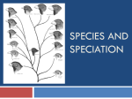 Species and Speciation