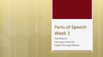 Parts of Speech Week 1