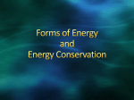 Forms of Energy and Energy Conservation