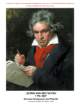 LUDWIG VAN BEETHOVEN 1770-1827 German Composer and