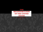 The Reconstruction of The United States