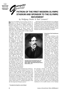 Georgios Averoff: The Patron of the First Modern Olympic