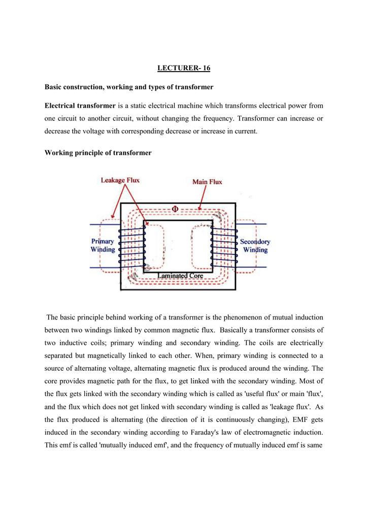ii) Three-phase transformer
