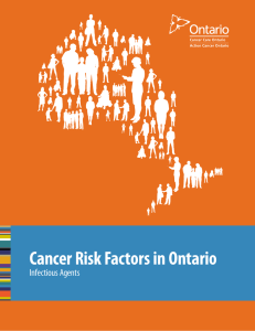 Cancer Risk Factors in Ontario | Infectious Agents