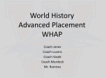 World History Advanced Placement WHAP