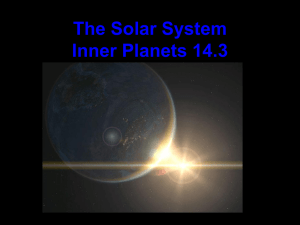 The Solar System Inner Planets 14.3