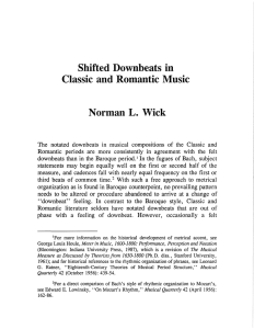 Shifted Downbeats in Classic and Romantic