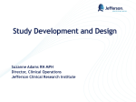 Study Development and Design