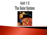 The Solar SysteM - Skyline R2 School