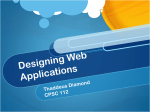 Designing Web Applications