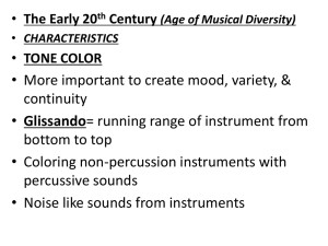The Early 20 th Century (Age of Musical Diversity)