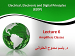 Lecture 06: Power Amplifiers Classes