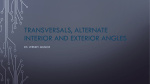 Transversal, Alternate Interior Angles, and Alternate Exterior Angles