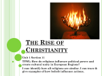 WHPP Unit 1 Section 11 Rise of Christianity