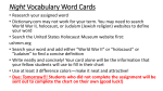 Night Vocabulary Word Cards