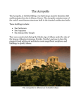 The Acropolis, a fortified citadel built atop a