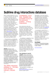 Sublime drug interactions database What a sublime pleasure it is as