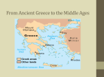 From Ancient Greece to the Middle Ages