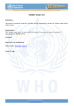 who the lexicon - World Health Organization