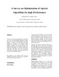 A Survey on Optimization of Apriori Algorithim for