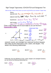 Right Triangle Trigonometry SOHCAHTOA and Pythagorean Thm