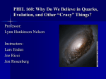 PHIL 160: Introduction to Philosophy of Science