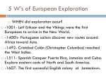 5 W`s of European Exploration