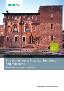 Fire protection in historical buildings and museums