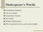 Shakespeare Biography Power Point