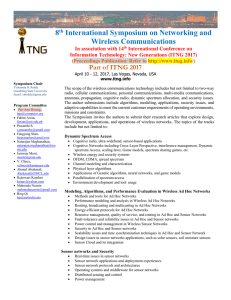 8th Symposium on Networking and Wireless