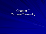 Chapter 7 Carbon Chemistry