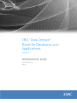 EMC Data Domain Boost for Databases and Applications Release
