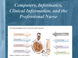 12. Computers, informatics, clinical information, and the professional