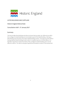LISTED BUILDINGS AND CURTILAGE Historic England Advice Note
