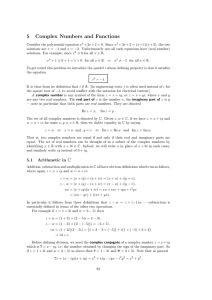 5 Complex Numbers and Functions
