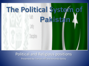 The Political System of Pakistan