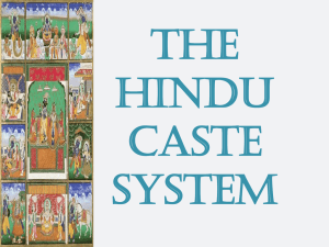 The Hindu Caste System Hinduism