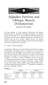 Alphabet Patterns and Oblique Muscle Dysfunctions