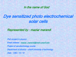 a dye sensitized solar cells are comprised from