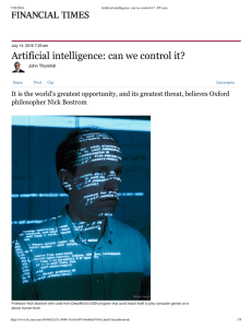 Artificial intelligence: can we control it?