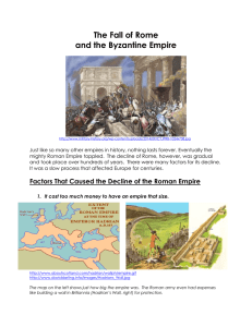 The Fall of Rome and the Byzantine Empire