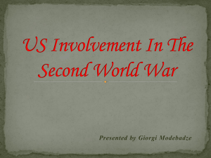 US Involvement In The Second World War