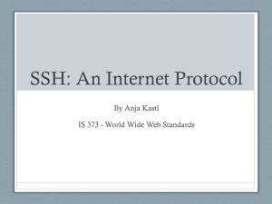 SSH - Information Services and Technology
