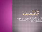 Fluid Management For Dental Anesthetist