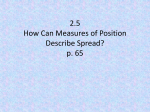 2.5 How Can Measures of Position Describe Spread? p. 65