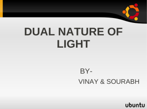 dual nature of light