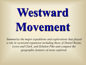 Westward Movement: Explorations and Expeditions