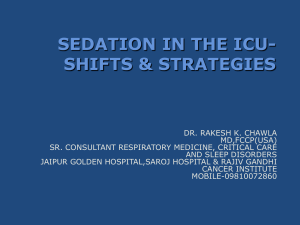 Sedation, Analgesia, and Neuromuscular Blockade in
