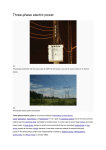 Three-phase electric power transmission