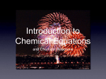 Introduction to Chemical Equations